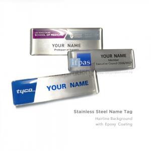Metal Name Tag Hairline