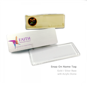 Snap On Name Tag