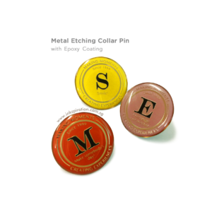 Metal Etching Collar Pin